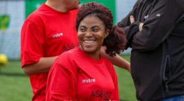 Participant smiles
