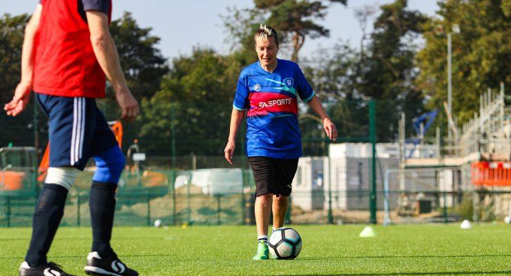 a walking footballer