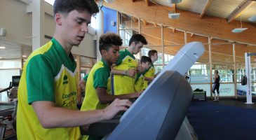 young people on a treadmill