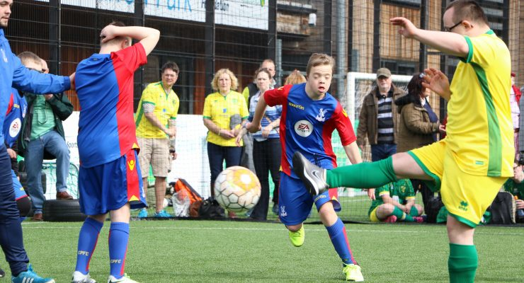 Norwich City v Crystal Palace down's syndrome football team
