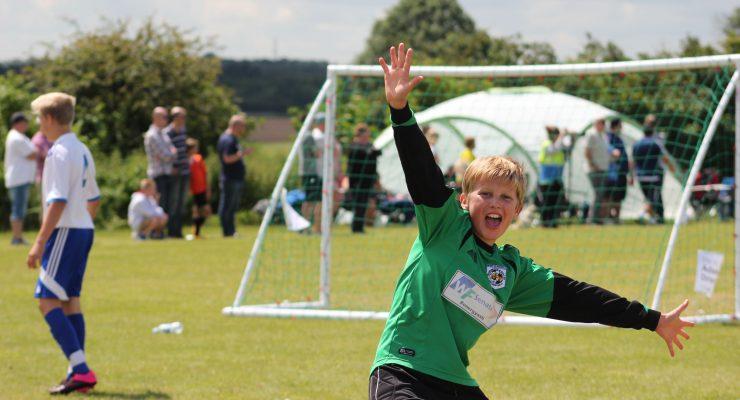 goalkeeper celebrates