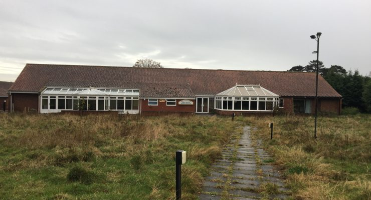 the disused clubhouse