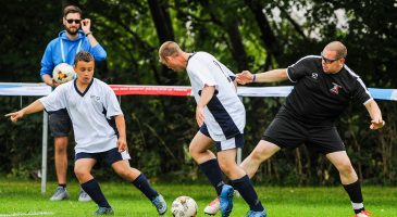 footballers compete in the games