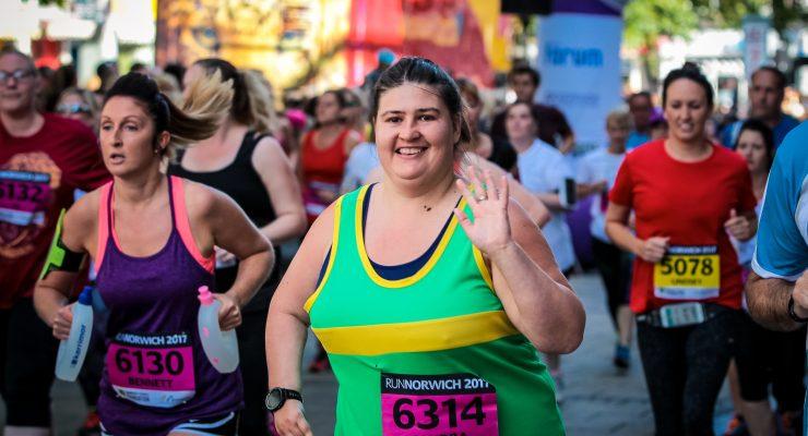 Runner at Run Norwich 2017