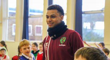 Josh Murphy visits Costessey Junior School