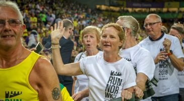 Carrow Road welcome for volunteers and runners