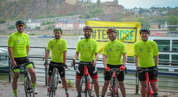 Cyclists complete Koblenz to Norwich challenge