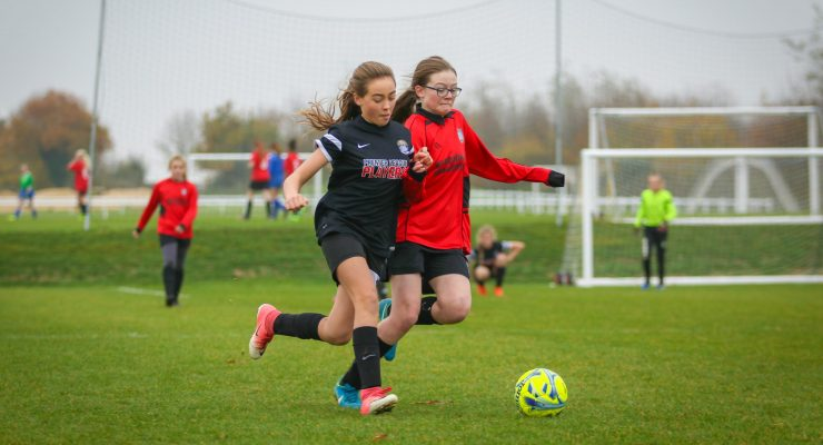U13s battle for the ball