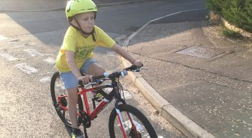 Ollie on his bike