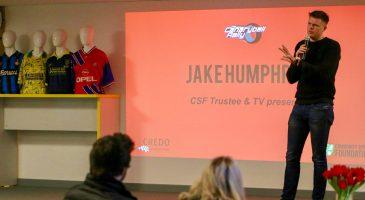 Jake Humphrey speaking