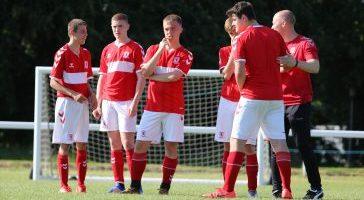 Middlesbrough team talk