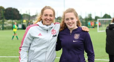 Aimee Palmer & Blue Wilson visit girls' ADP session