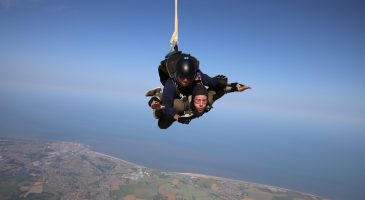 Yellow & Green skydivers raise thousands for CSF