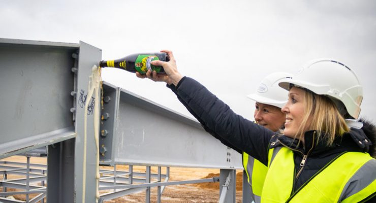 Topping-out ceremony takes place at The Nest