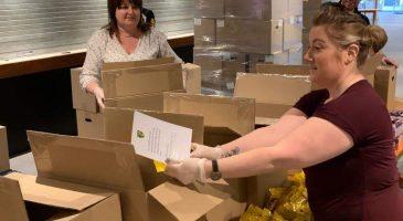 Food parcel preparation
