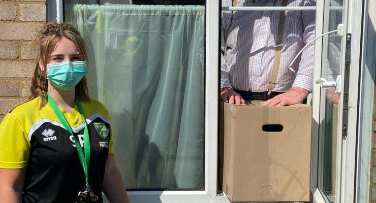Staff deliver food parcels to Norfolk residents
