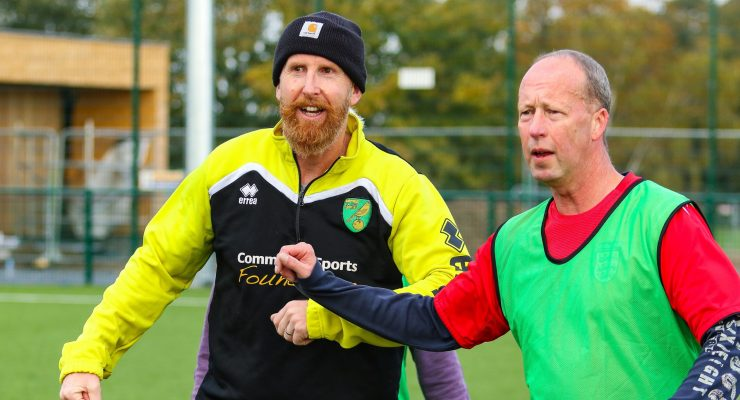 City legend tries out walking football