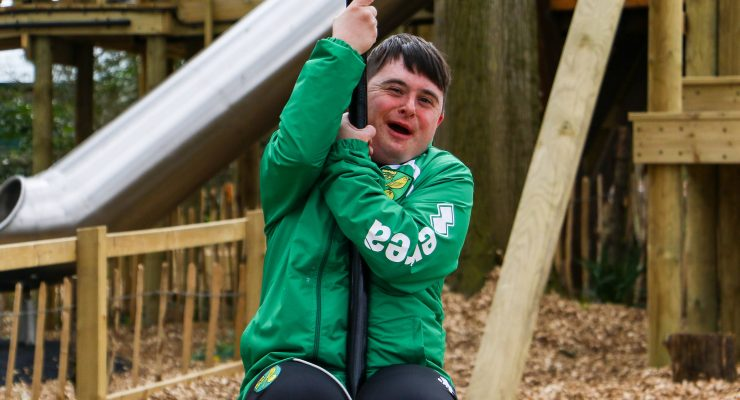 Disability participant at the Challenge Wood