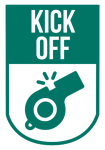 The Kick off logo, adult course from Community Sports Foundation