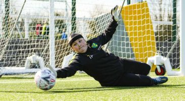 Young female goalkeeper on our programmes