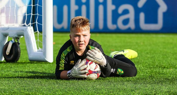 Young male goalkeeper on our programmes