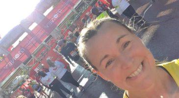Fran Brown at London Marathon 2021